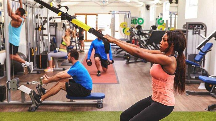Ilustrasi olahraga di gym.
