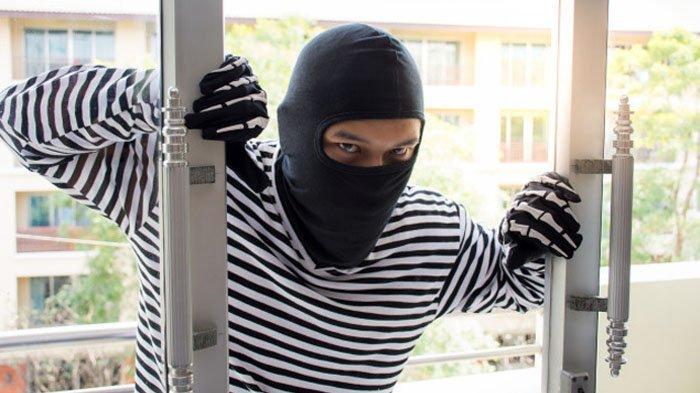 Ilustrasi pencuri bobol rumah