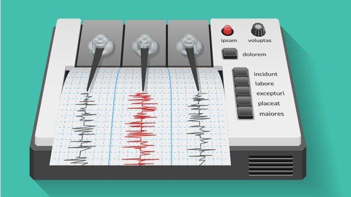 Ilustrasi alat pengukur gempa