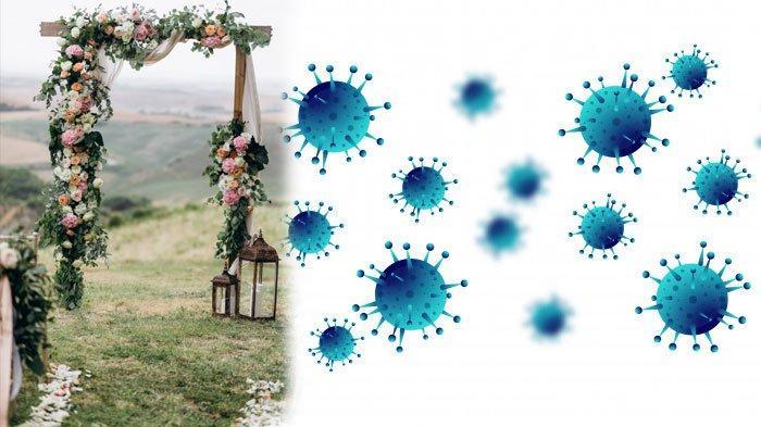 Ilustrasi pernikahan dan virus corona