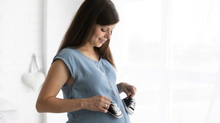Ilustrasi wanita mengandung bayi.