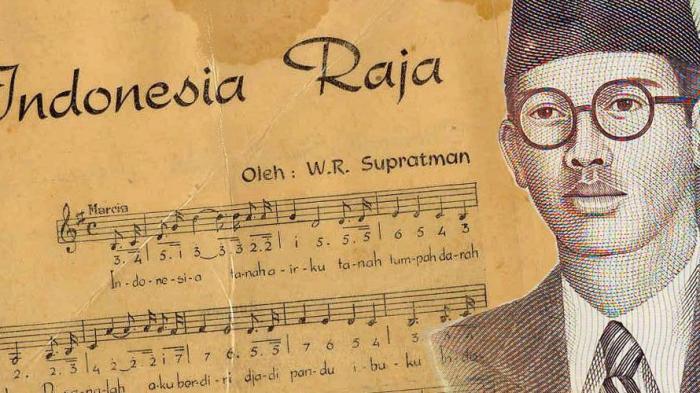 Lagu Indonesia Raya ciptaan Wage Rudolf Supratman.