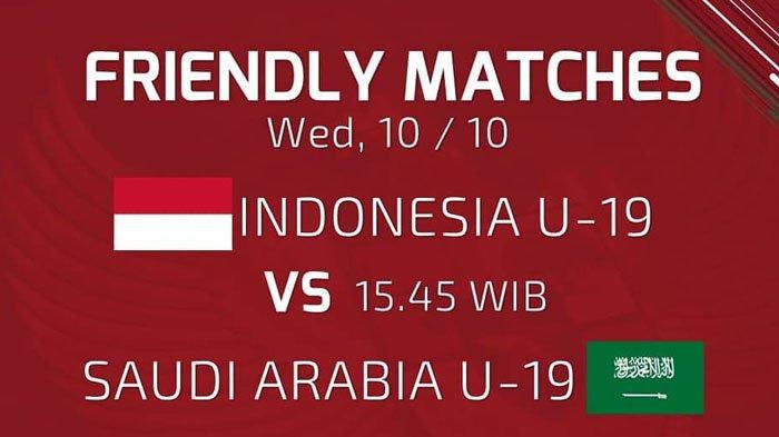 SEDANG BERLANGSUNG - Live Streaming RCTI Indonesia U19 Vs Arab Saudi U19 Sore ini Jam 15.45 WIB
