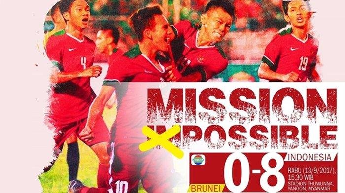 Hasil Indonesia VS Brunei Piala AFF 2017 Skor 8-0, Garuda Muda Pesta Gol & Lolos Penyisihan Grup