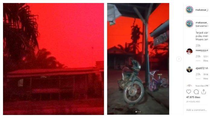 Ini Penjelasan BNPB Tentang Fenomena Langit Merah di Jambi, Disebut Sebagai Hamburan Rayleigh