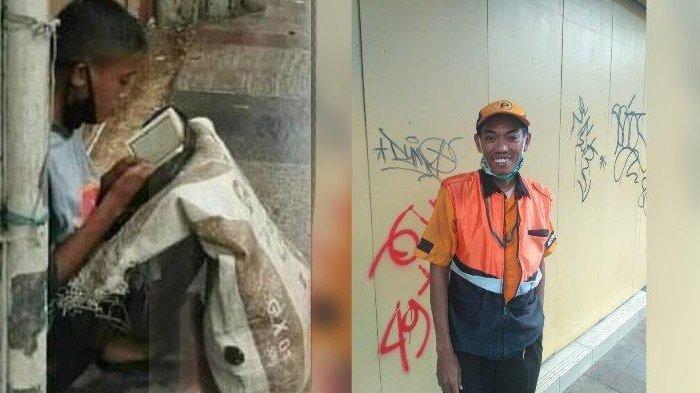 INI SOSOK Tukang Parkir yang Foto Pemulung Ngaji di Emperan, Tak Sangka Unggahannya Ubah Nasib Akbar