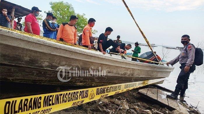 Insiden perahu terbalik di Waduk Kedung Ombo Boyolali.