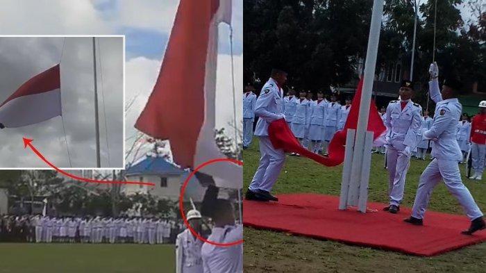 POPULER 10 Kisah & Kejadian Paskibraka: Peci Tersangkut Bendera Hingga Prajurit TNI Panjat Tiang