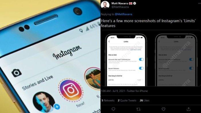 Instagram Akan Segera Rilis Fitur 'Limits', Kegunaannya Cegah Interaksi dari Fake Account