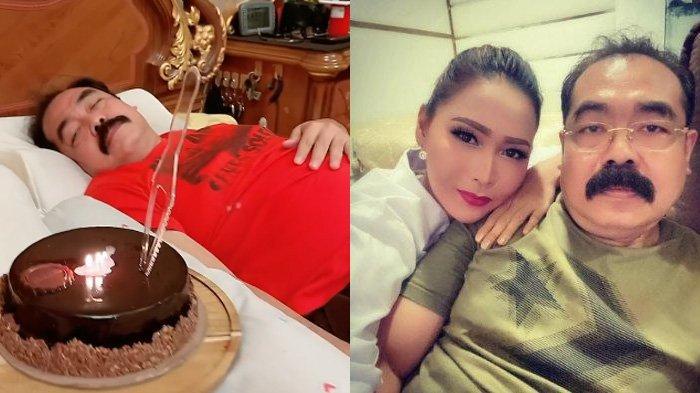 Adam Suseno Ulang Tahun, Inul Daratista Beri Kejutan saat Suami sedang Tidur: Tetap Sehat Pak Kumis