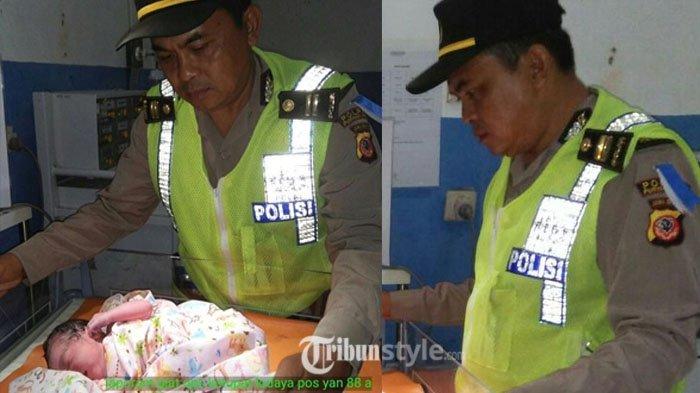 Inilah Sosok Polisi yang Bantu Seorang Ibu Melahirkan di Jalan Tol Purbaleunyi, Hadiah Siap Menanti