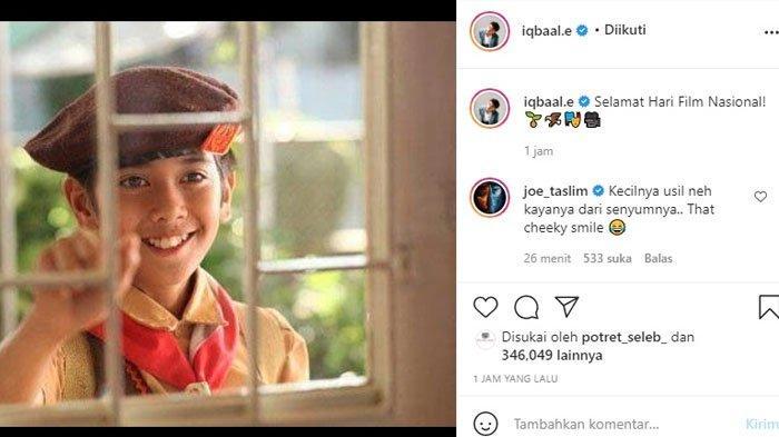 Iqbaal Ramadhan merayakan hari film nasional, ia justru mendapat godaan dari Joe Taslim.