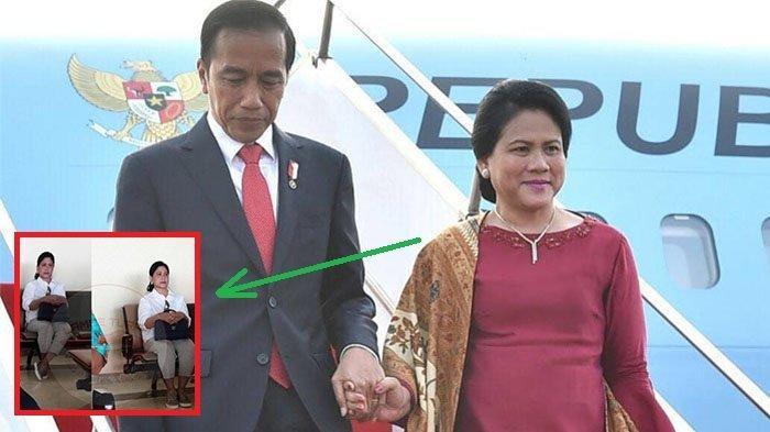 Istri Presiden Jokowi, Iriana, Terlihat Sendirian di Bandara, Busana yang Dikenakan Jadi Sorotan!