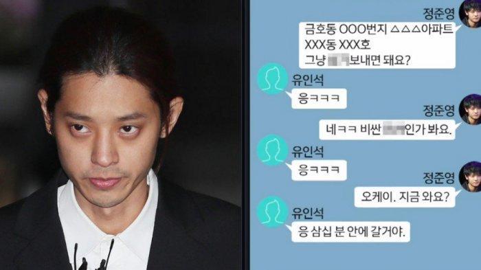 Isi Chat Jung Joon Young Kembali Beredar, Berisi Kiriman Hadiah Natal yang Tak Biasa!