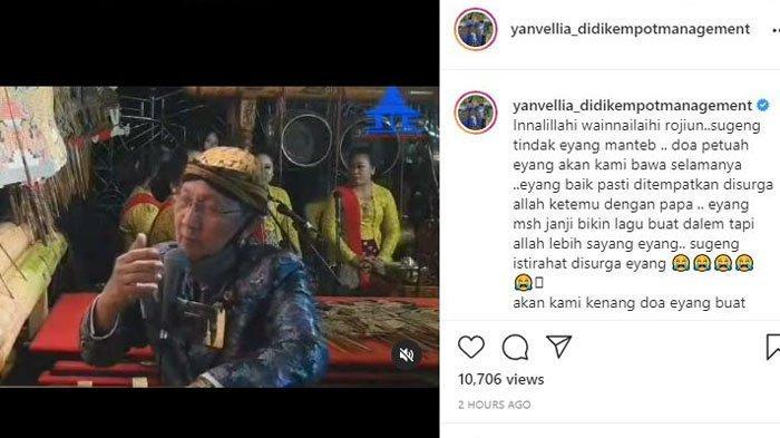 POPULER Tutup Usia, Ini Janji Ki Manteb Sudarsono pada Istri Mendiang Didi Kempot sebelum Berpulang