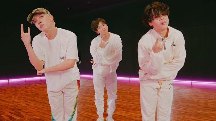 J-Hope, Jimin, dan Jungkook BTS kompak dance Butter feat. Megan Thee Stallion.