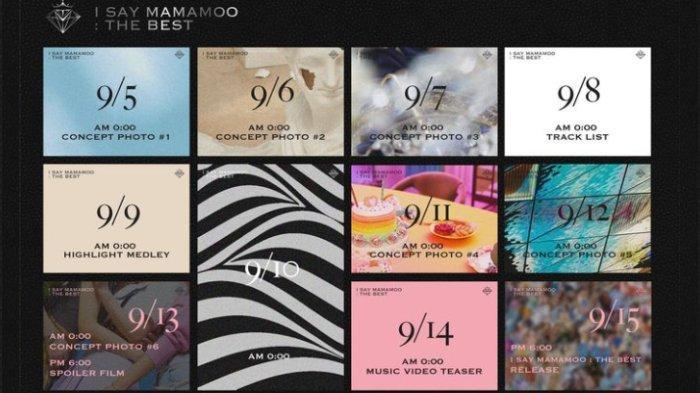 Jadwal comeback MAMAMOO