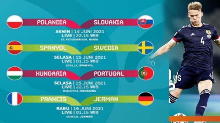 JADWAL dan LINK Live Streaming Polandia vs Slovakia Euro 2020 Hari Ini, Tayang di RCTI dan Mola TV