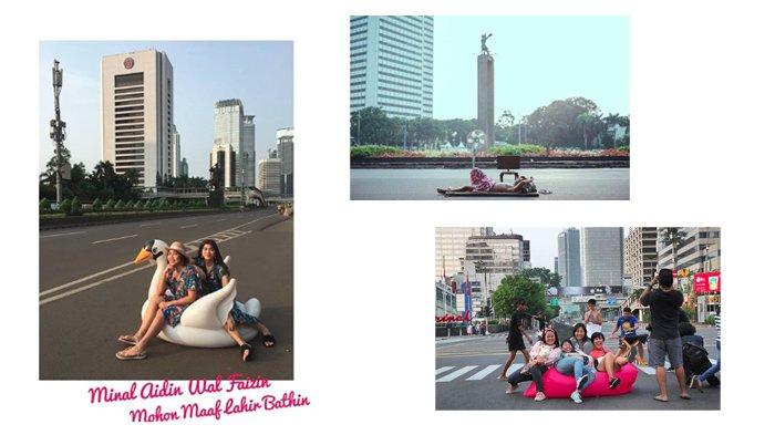 Jakarta Sepi Ditinggal Mudik Warganya, Ini 14 Foto Paling Gokil Tunjukkan Lengangnya Jalanan Ibukota