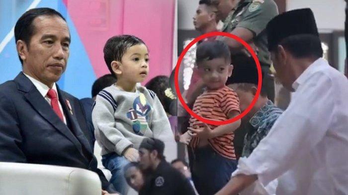Ikut Jokowi Sholat Jumat, Lucunya Jan Ethes Melirik Sang Kakek hingga Berdiri di Saf Terdepan!