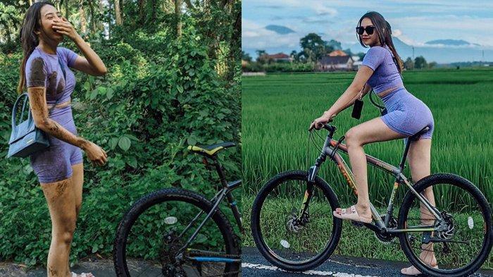 NGAKU Akibat Kebanyakan Gaya, Anya Geraldine Jatuh dari Sepeda, Baju Penuh Lumpur, Pelipis Luka