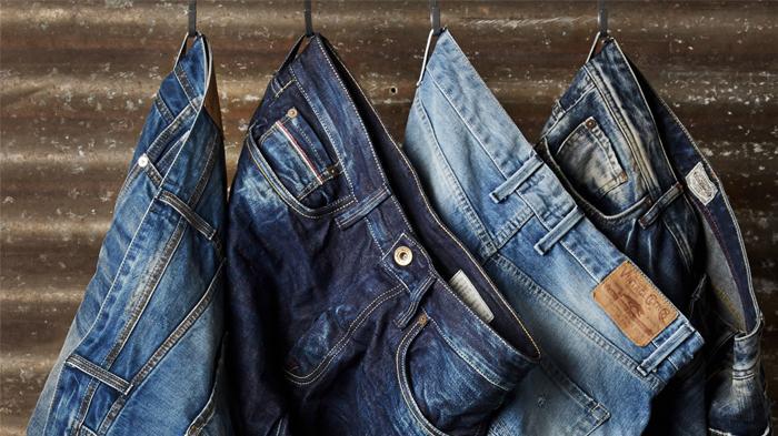 Ilustrasi celana denim atau jeans.