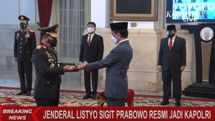 Jenderal Listyo Sigit Prabowo dilantik Presiden Jokowi jadi Kapolri