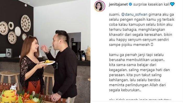 Jenita Janet ucap rasa terima kasihnya telah diberi suami yang baik seperti Danu Sofwan