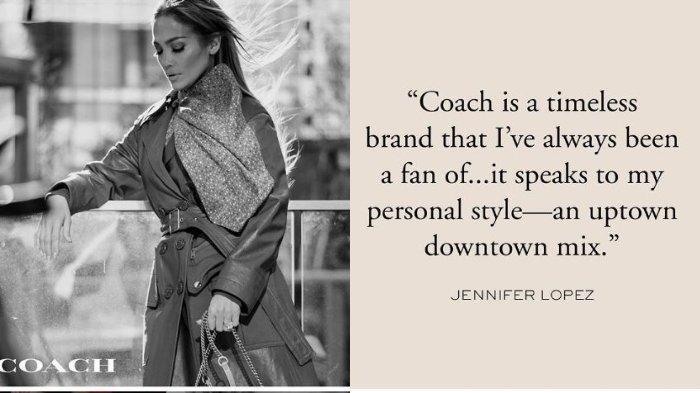 Gantikan Selena Gomez, Jennifer Lopez Terpilih Jadi Global Ambassador Brand Coach