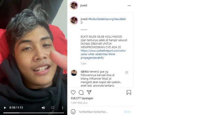 Jerinx SID unggah video Bintang Emon soal 'diendorse' Covid-19