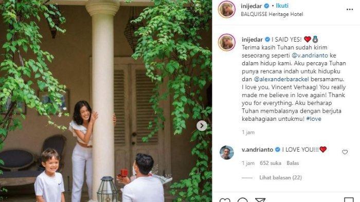Jessica Iskandar dilamar Vincent Verhaag