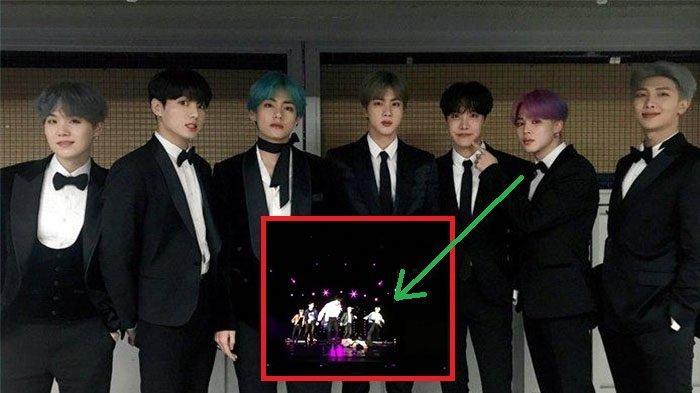 Konser di Singapur, Jimin Terpeleset Lantaran Panggung Licin, Member BTS Lainnya Segera Lakukan ini