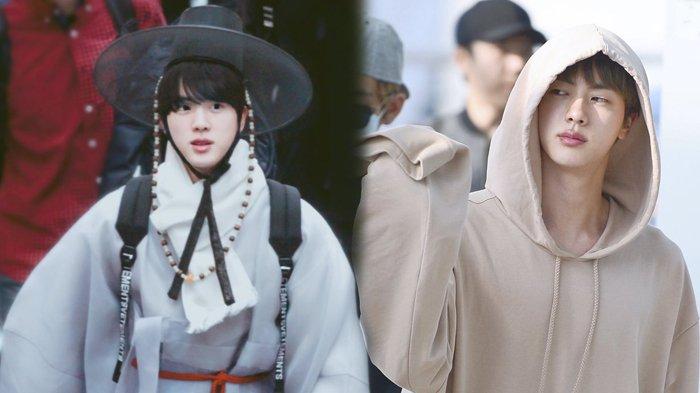 Jin Bts Dapat Julukan Worldwide Handsome 7 Foto Candid Ini Masih Menampakkan Ketampan Nggak Ya Halaman All Tribunstyle Com