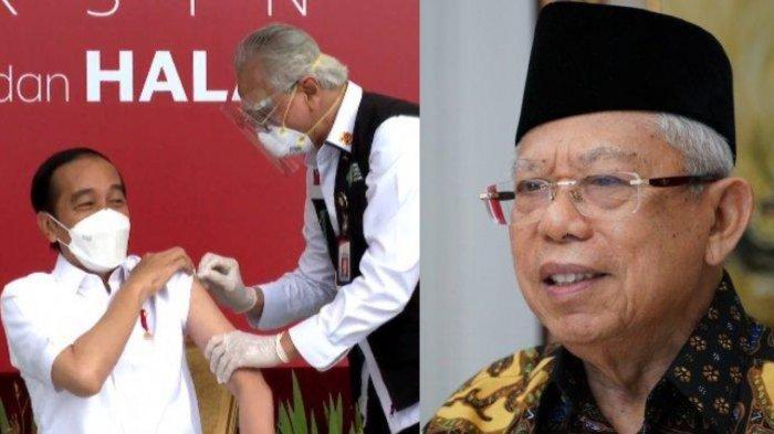 Jokowi Divaksin, Mengapa Maruf Amin Tidak? Ini Alasan Usia 60 Lebih Tak Disuntik Vaksin Sinovac