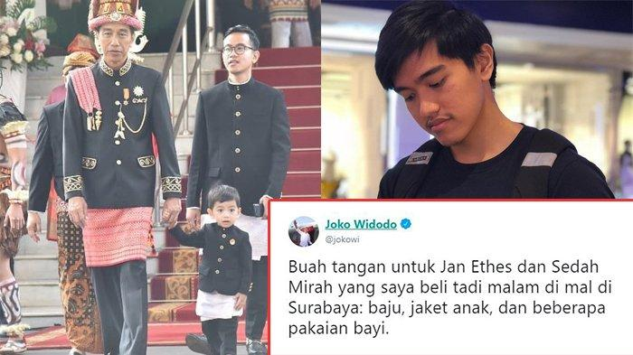 Jokowi Beli Oleh-oleh untuk Jan Ethes & Sedah Mirah, Komentar Usil Kaesang Pangarep Jadi Sorotan