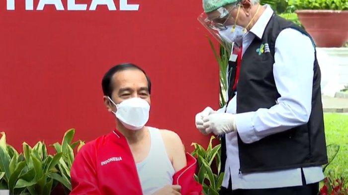 Jokowi suntik vaksin Covid-19 dosis kedua, Rabu (27/1/2021).