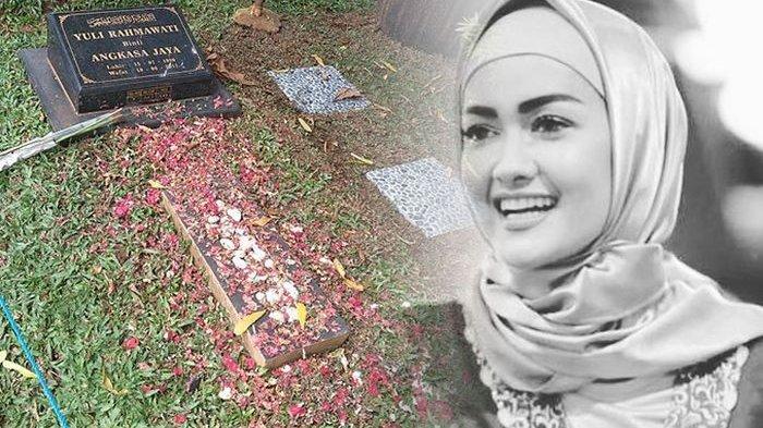Sosok almarhumah Julia Perez dan makamnya di TPU Pondok Rangon Jakarta Timur
