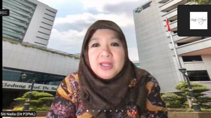 Juru Bicara Vaksinasi Covid-19 Kementerian Kesehatan Siti Nadia Tarmizi dalam konferensi pers virtual, Rabu (1/9/2021)