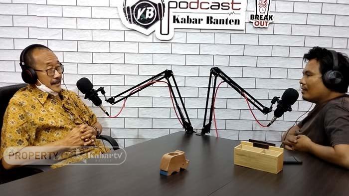 Kadispora Cilegon, Teten Heriatman saat di podcast KABAR BANTEN TV