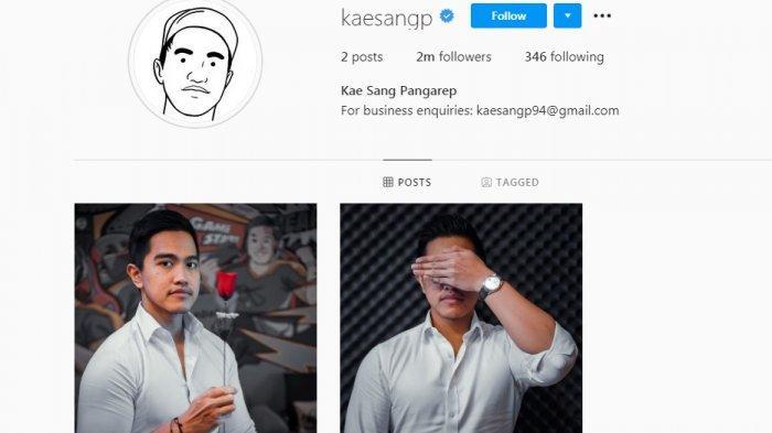 Tangkapan layar akun Instagram Kaesang.