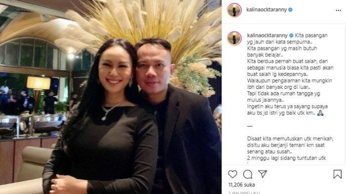 Kalina Ocktaranny ucap permintaan pada Vicky Prasetyo.
