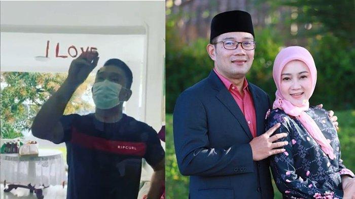 BIKIN NYESEK Ridwan Kamil Tulis Pesan Cinta untuk Istri Pakai Lipstik Dior, Emil: Semoga Tidak Marah
