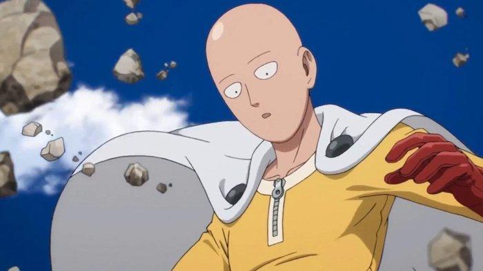 Karakter Saitama dalam anime One Punch Man.