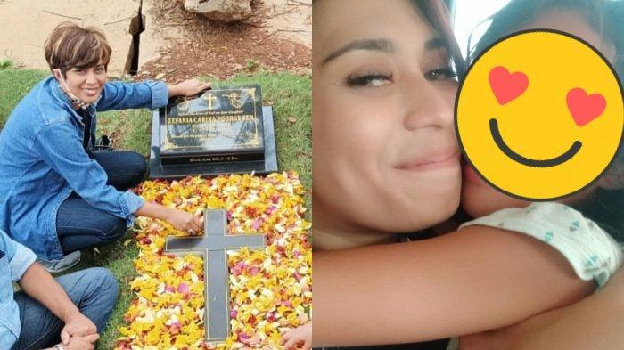 Momen Haru Karen Pooroe Ziarah ke Makam Anak, Peringati Pertambahan Usia Zefania: Dia Ultah di Surga