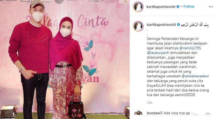 Kartika Putri beri doa untuk Ria Ricis dan Teuku Ryan yang telah menggelar acara lamaran.