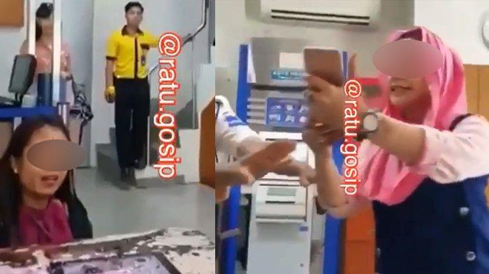 Heboh Video Seorang Istri Labrak Cewek Diduga Pelakor di Tempat Kerja, 'Saya Sedang Hamil 5 Bulan!'