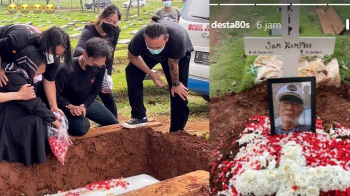 POPULER Tegar, Vincent Rompies Beri Ucapan Haru dari Atas Liang Lahat di Pemakaman Jenazah Sang Ayah