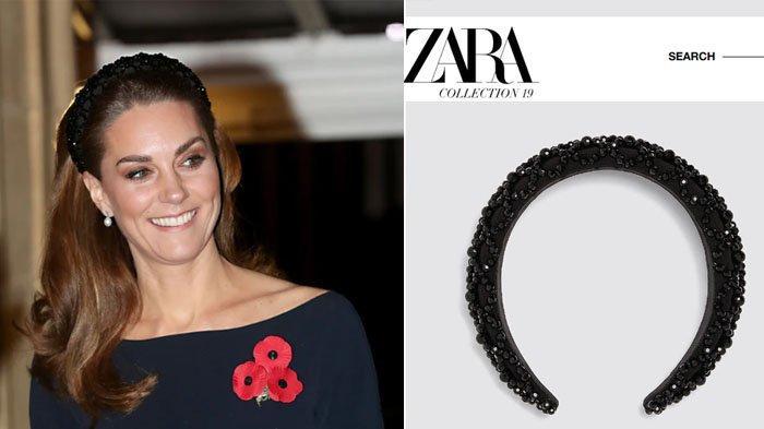Intip Penampilan Kate Middleton Pakai Bando Zara Seharga Rp 425.000