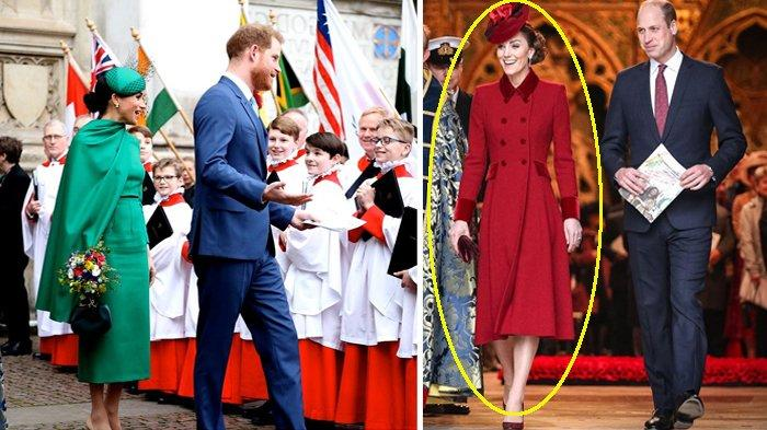 Baju Merah Kate Middleton Siratkan Pesan Rahasia bagi Meghan Markle & Pangeran Harry Saat Perpisahan