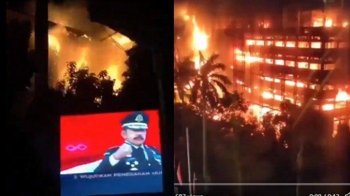 RAMAI di Twitter, Ini Rekaman yang Tertangkap Kamera Video Amatir Kebakaran Gedung Kejaksaan Agung